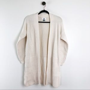 Old Navy Cable Knit Cardigan Cream Womens Sweater